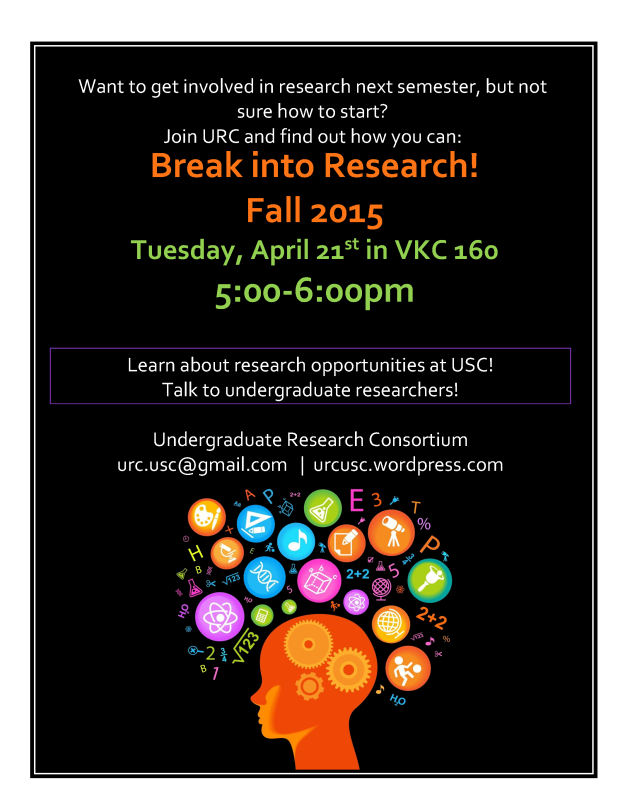 break into research flyer