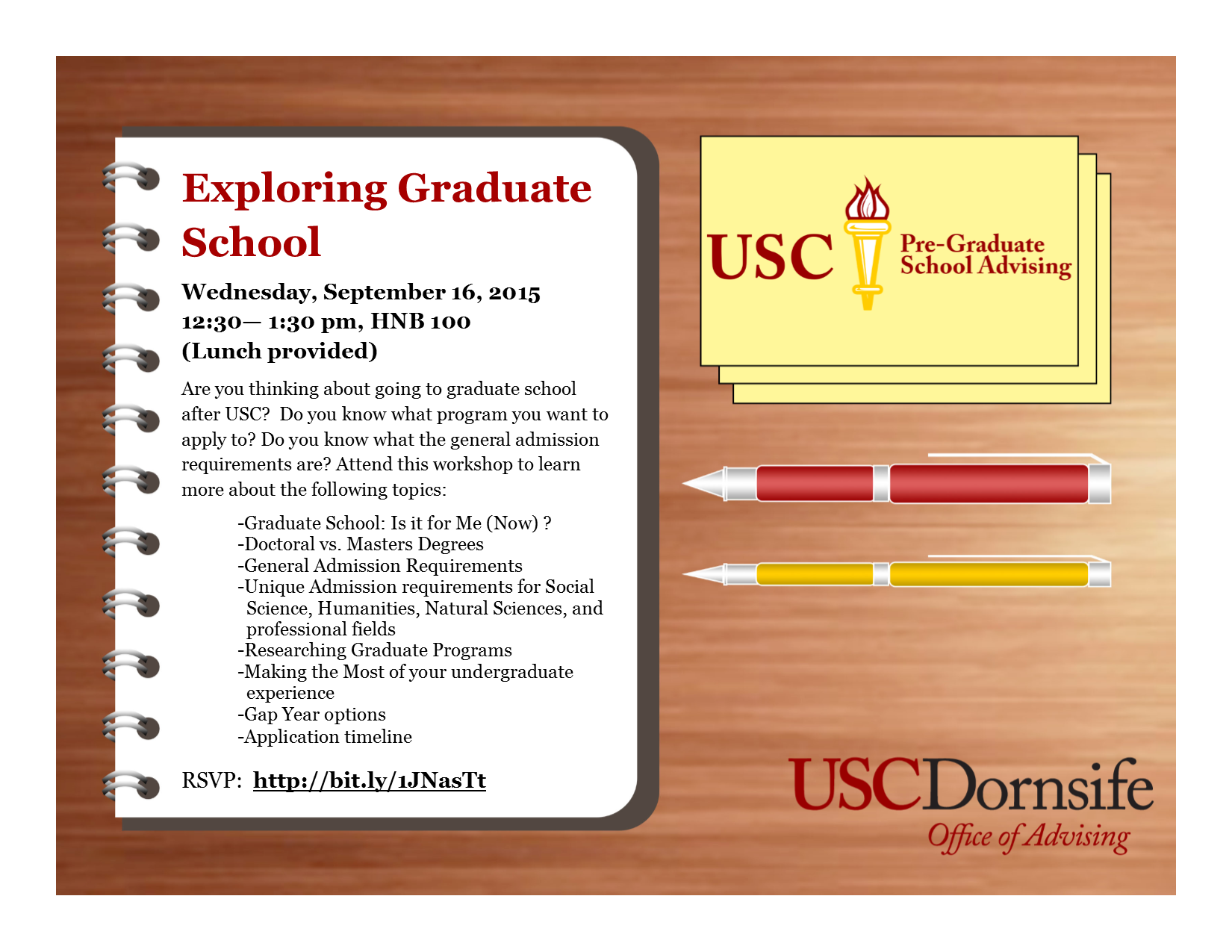 exploring graduate school workshop hub opportunities and pre graduate workshop flyer