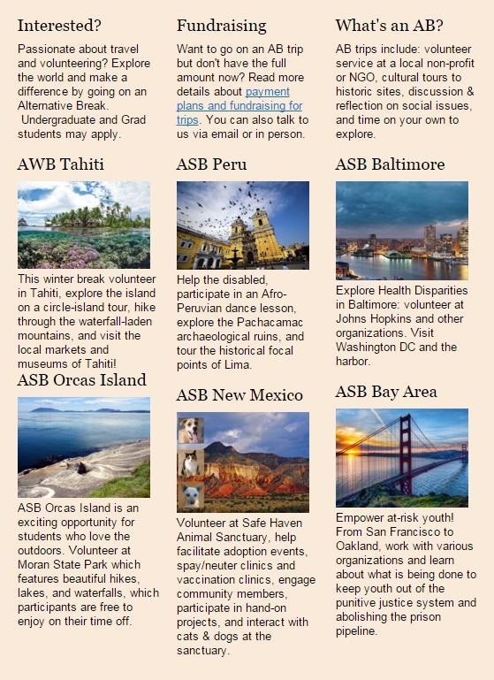 ASB Blurbs