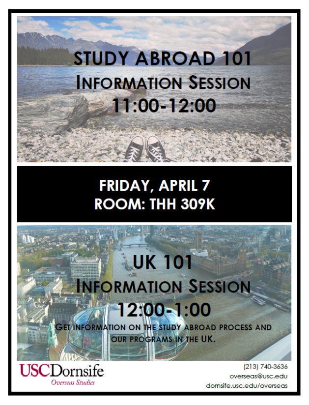 Study Abroad Info Sessions 4-3-17